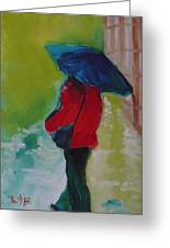 First Rain Greeting Card