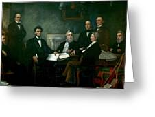 First Reading Of The Emancipation Proclamation Of President Lincoln Greeting Card