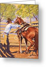 First Saddling Greeting Card