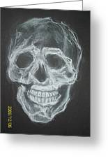 First Skull Work Greeting Card