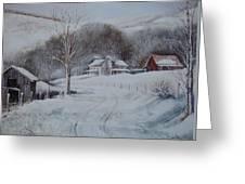 First Snow- Banner Elk Greeting Card