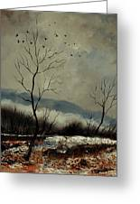 First Snow In Harroy Greeting Card