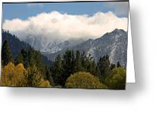 First Snow In Tahoe Greeting Card