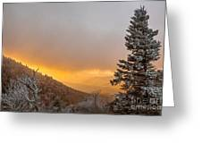 First Snow On The Blue Ridge Parkway. Greeting Card