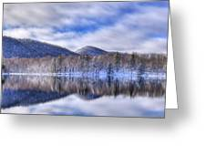 First Snow On West Lake Greeting Card