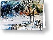 First Snowfall Greeting Card