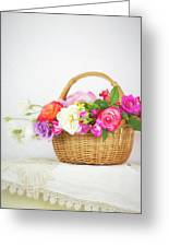 First Spring Garden Roses Greeting Card