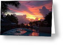 First Sunset In Negril Greeting Card