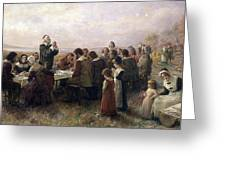 First Thanksgiving Vintage Painting Greeting Card