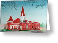First United Methodist Church  Terrell Tx Greeting Card