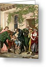 First Vaccination, 1796 Greeting Card