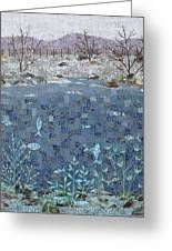 Fish And Winter Greeting Card