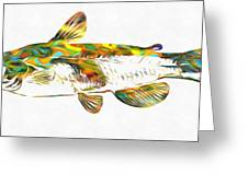 Fish Art Catfish Greeting Card