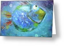 Fish Blue Greeting Card