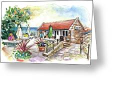 Fish Box In Robin Hoods Bay  Greeting Card