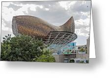 Fish By Frank Owen Gehry - Olympic Village - Barcelona Spain Greeting Card