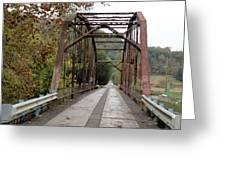 Fish Creek Bridge Greeting Card by Terry  Wiley