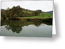 Fish Creek Reflection Greeting Card by Terry  Wiley