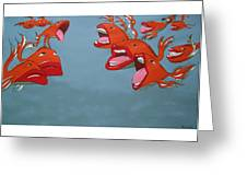 Fish Fight Greeting Card