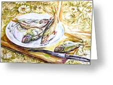 Fish For Dinner. Greeting Card