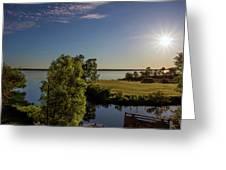 Fish Hook Lake Morning Greeting Card