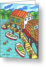 Fish House-cedar Key Greeting Card