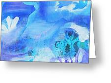Fish In Blue Greeting Card