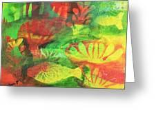 Fish In Green Greeting Card