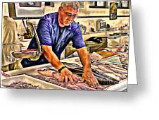 Fish Monger Greeting Card
