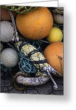 Fish Netting And Floats 0129 Greeting Card