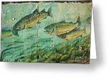 Fish On The Wall 2 Greeting Card