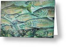 Fish On The Wall Greeting Card