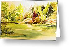 Fish Pond At Nutimik Lake Manitoba Greeting Card