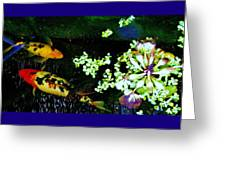 Fish Water Flowers 3 Greeting Card