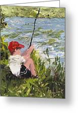 Fisher Boy Greeting Card