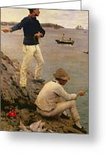 Fisher Boys Falmouth Greeting Card