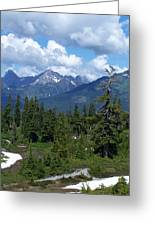 Fisher Chimney And Mt. Shuksan Greeting Card