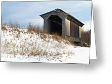 Fisher Covered Railroad Bridge Greeting Card