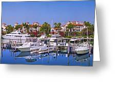 Fisher Island Miami Private Marina Greeting Card