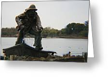 Fisher Statue Greeting Card