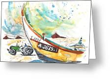 Fisherboat In Praia De Mira Greeting Card