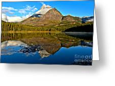 Fishercap Snowcap Reflections Greeting Card