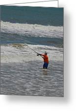 Fisherman And The Sea Greeting Card