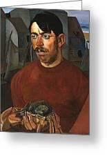 Fisherman Boris Grigoriev Greeting Card