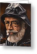 Fisherman By Kurt Lang Greeting Card
