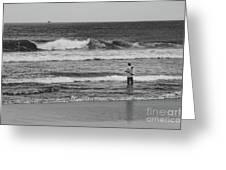 Fisherman - Costa Del Sol - El Salvador Bnw V Greeting Card