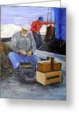 fisherman from Mola di Bari Greeting Card
