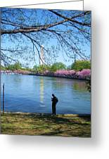 Fisherman In Dc Greeting Card