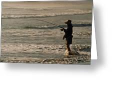 Fisherman Greeting Card by Steve Karol