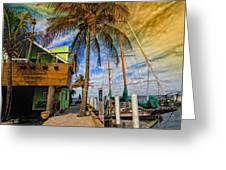 Fisherman Village Greeting Card by Gina Cormier